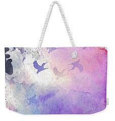 Weekender Tote Bag featuring the digital art Hummingbird Dreams by Judy Hall-Folde