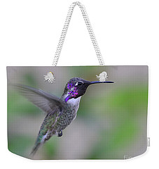 Hummingbird Flight Weekender Tote Bag