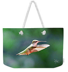 Weekender Tote Bag featuring the photograph Hummingbird Flying by Meta Gatschenberger