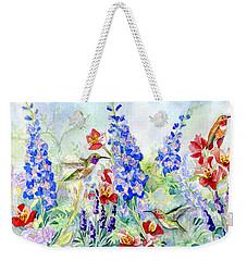 Hummingbird Garden In Spring Weekender Tote Bag