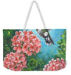 Hummingbird Heaven Weekender Tote Bag by Kim Lockman