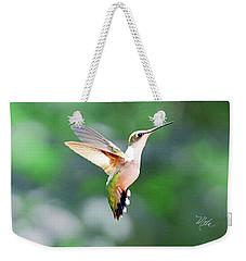 Hummingbird Hovering Weekender Tote Bag