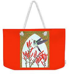 Hummingbird In Opening Weekender Tote Bag by Lise Winne