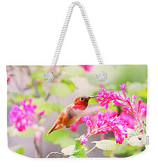 Hummingbird In Spring Weekender Tote Bag