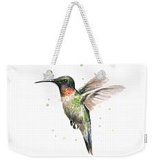 Hummingbird Weekender Tote Bag by Olga Shvartsur