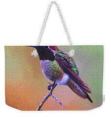 Hummingbird On A Stick Weekender Tote Bag