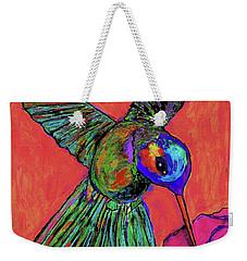 Hummingbird On Red Weekender Tote Bag