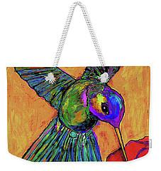 Hummingbird On Yellow Weekender Tote Bag