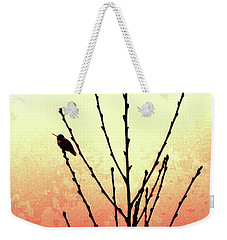 Sunset Peach Tree Weekender Tote Bag