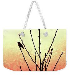 Hummingbird Peach Tree Weekender Tote Bag