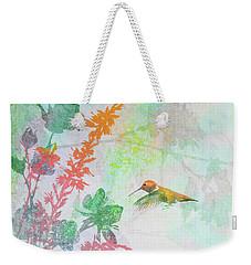 Hummingbird Summer Weekender Tote Bag