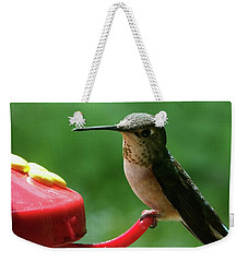 Hummingbird Takes A Break Weekender Tote Bag by Mark Alan Perry