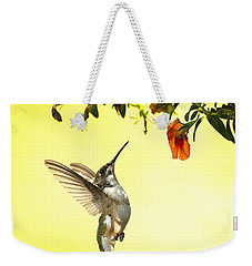 Hummingbird Under The Floral Canopy Weekender Tote Bag