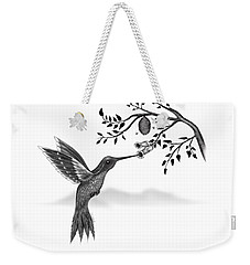 Weekender Tote Bag featuring the digital art Hummingbird by Vincent Autenrieb