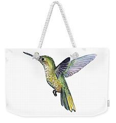 Hummingbird Watercolor Illustration Weekender Tote Bag