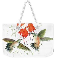 Hummingbird Watercolor Weekender Tote Bag by Melly Terpening