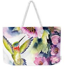 Hummingbird With Pink Flowers Weekender Tote Bag
