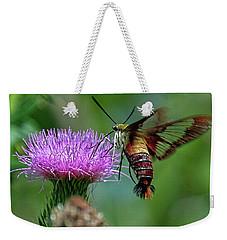 Hummingbirdbird Moth Dining Weekender Tote Bag