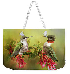 Hummingbirds And Blossoms Weekender Tote Bag