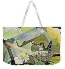 Hummingbirds And Lemons Weekender Tote Bag