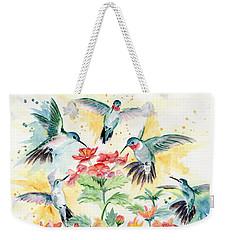 Hummingbirds Party Weekender Tote Bag by Melly Terpening
