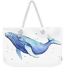 Humpback Whale Watercolor Weekender Tote Bag by Olga Shvartsur