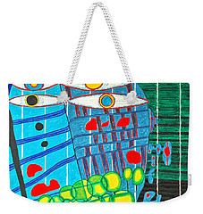 Hundertwasser Blue Moon Atlantis Escape To Outer Space In 3d By J.j.b Weekender Tote Bag