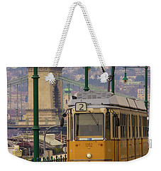 Hungarian Tram Weekender Tote Bag by David Warrington