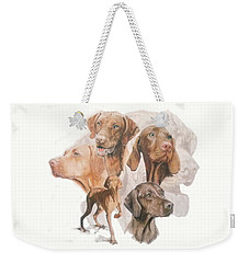 Hungarian Vizsla W/ghost Weekender Tote Bag