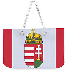 Weekender Tote Bag featuring the drawing Hungary Coat Of Arms by Movie Poster Prints