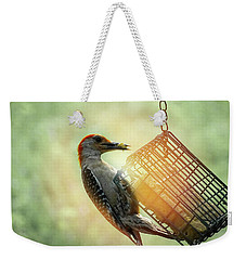 Hungry Woodpecker Weekender Tote Bag by Melissa Messick