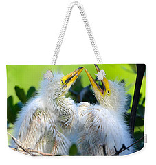 Hungry Egret Chicks Weekender Tote Bag