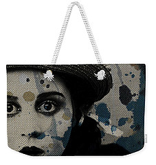 Weekender Tote Bag featuring the mixed media Hungry Eyes by Paul Lovering