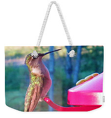 Hungry Hummer Weekender Tote Bag by Jeanette Oberholtzer