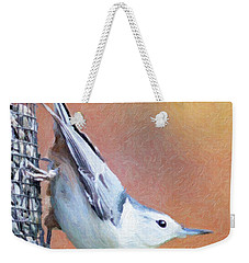 Hungry Nuthatch Weekender Tote Bag