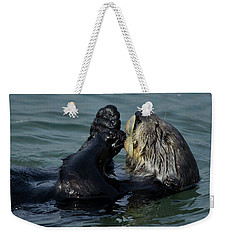 Hungry Sea Otter Weekender Tote Bag