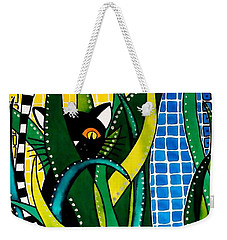 Hunter In Camouflage - Cat Art By Dora Hathazi Mendes Weekender Tote Bag