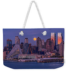 Hunter's Moon Over Ny Weekender Tote Bag
