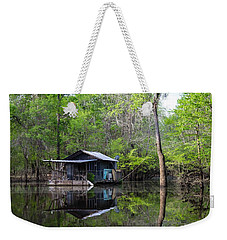 Hunting And Fishing Cabin Weekender Tote Bag