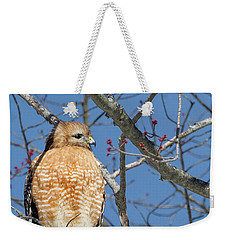 Weekender Tote Bag featuring the photograph Hunting by Bill Wakeley