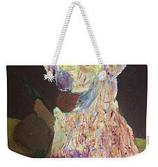 Weekender Tote Bag featuring the painting Hunting Dog by Donald J Ryker III