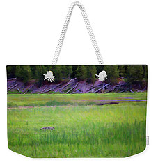 Weekender Tote Bag featuring the photograph Hunting by Sue Collura