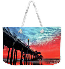 Huntington Beach Pier Sunset Weekender Tote Bag