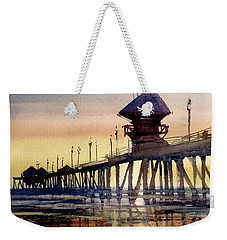 Huntington Pier Weekender Tote Bag by Sandra Strohschein