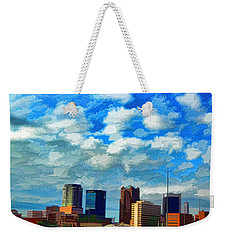 Huntsville Alabama Skyline Abstract Art Weekender Tote Bag