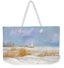 Huron Lighthouse Weekender Tote Bag by Mary Timman