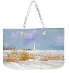 Huron Lighthouse Weekender Tote Bag