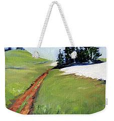 Weekender Tote Bag featuring the painting Hurricane Hill by Nancy Merkle