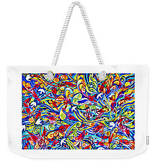 Hurricane Of Doves And Hearts Weekender Tote Bag