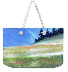 Weekender Tote Bag featuring the painting Hurricane Ridge by Nancy Merkle